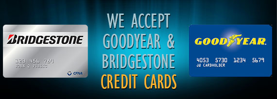 graphic regarding We Accept Credit Cards Printable Sign named Crown Tire - Specials - We acknowledge goodyear and bridestone